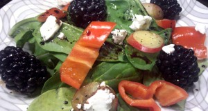 Blackberry Goat Cheese Summer Salad