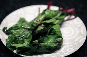 Sauted Garlic Beet Greens