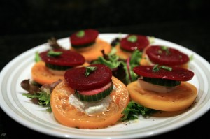 Tomato Beet Stacks Salad