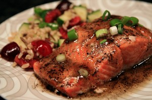 Brown Butter and Sugar Mustard Glazed Salmon
