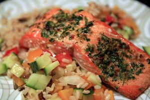 Herb Roasted Salmon with Compound Butter