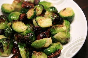Fig Roasted Brussels Sprouts