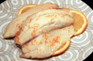 Orange Poached Tilapia
