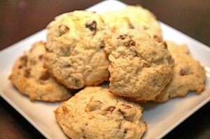 Nog and Raisin Scones