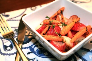 Roasted Radish and Carrot Medley