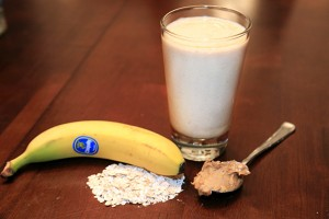 Banana Peanut Butter Oatmeal Smoothie