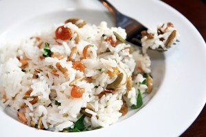 Mediterranean Jasmine Rice with Nuts and Raisins
