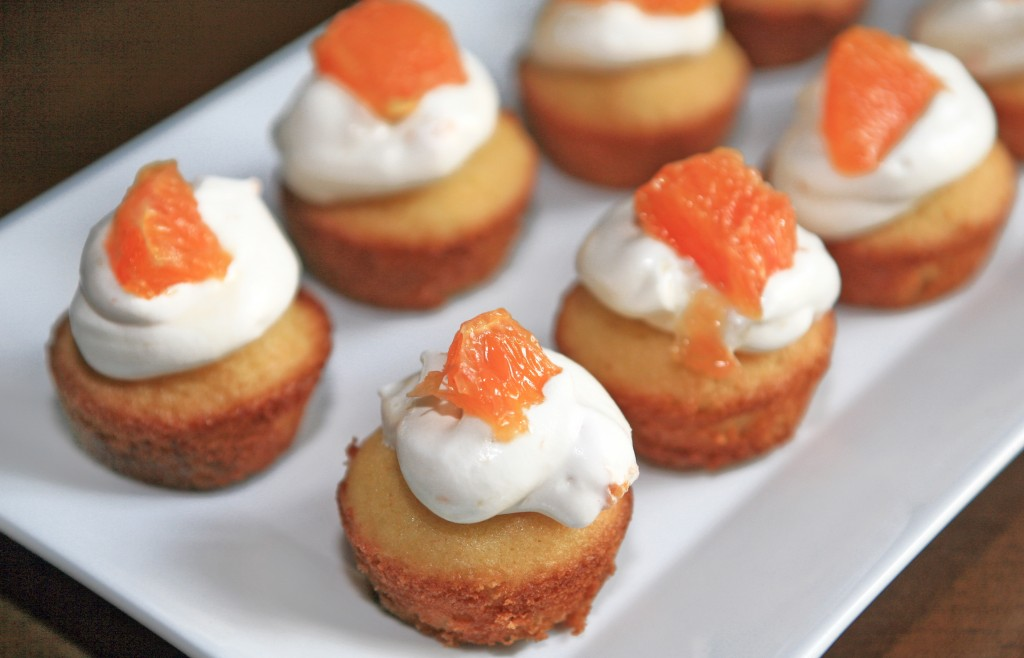 Petite French Cakes with an Orange Crème