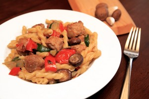 Sausage and Roasted Veggie Pasta