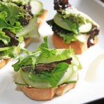 Apple and Goat Cheese Crostinis