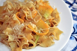 Autumn Squash Cheesy Pasta