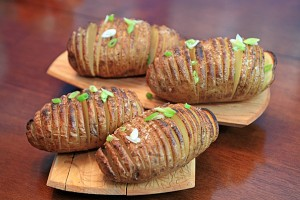 Golden Hasselback Potatoes
