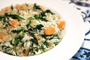 Orange Spinach Rice Salad