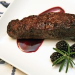 Skillet Steaks with a Blackberry Herb Sauce