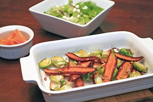 Roasted Heirloom Summer Veggies