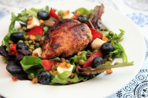 Summer Market Salad with Honey Coriander Chicken