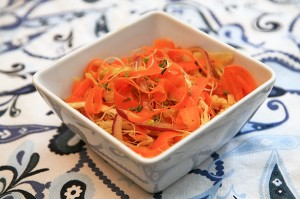 Spring Carrot Ribbon Salad