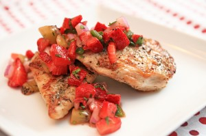 Herb Chicken with Strawberry Salsa